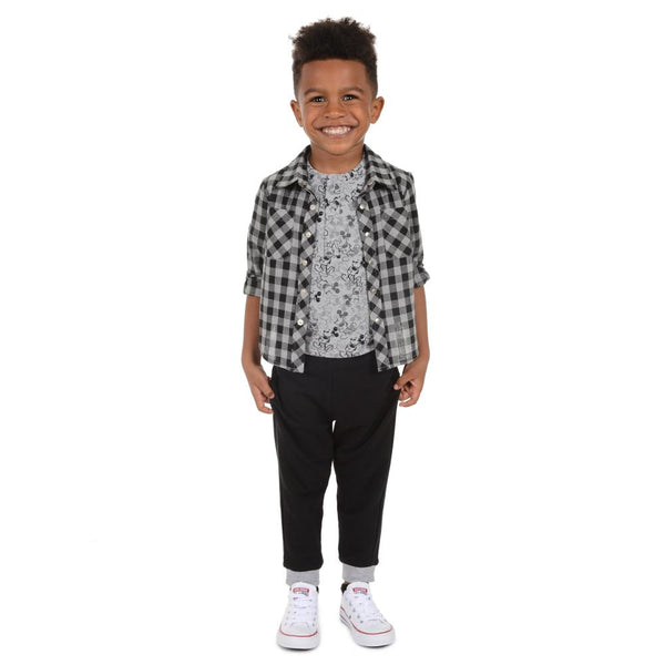 Outfit - Disney X Little Brother Mickey Checker Set