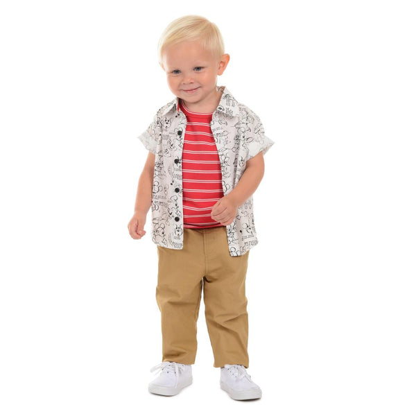 Outfit - Disney X Little Brother Mickey Print Pant Set