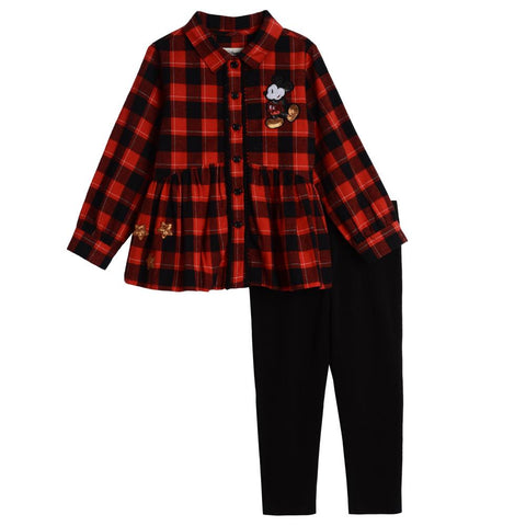 Disney X Pippa & Julie Mickey Plaid Set