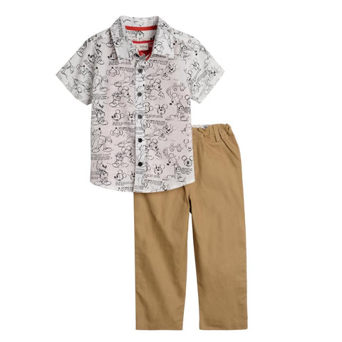 Disney X Little Brother Mickey Print Pant Set