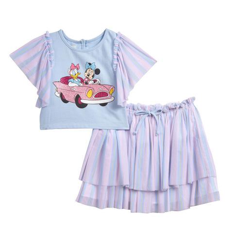 Disney X Pippa & Julie Minnie and Daisy Skirt Set