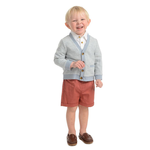 Little Brother Bryan Cardigan Short Set