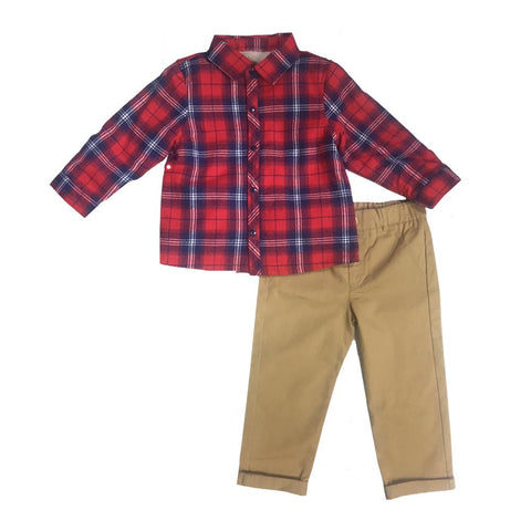 Little Brother Georgie Plaid Set
