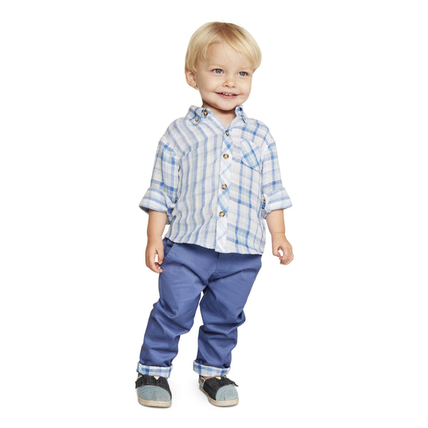 Outfit - Little Brother Henry Blue Plaid Set