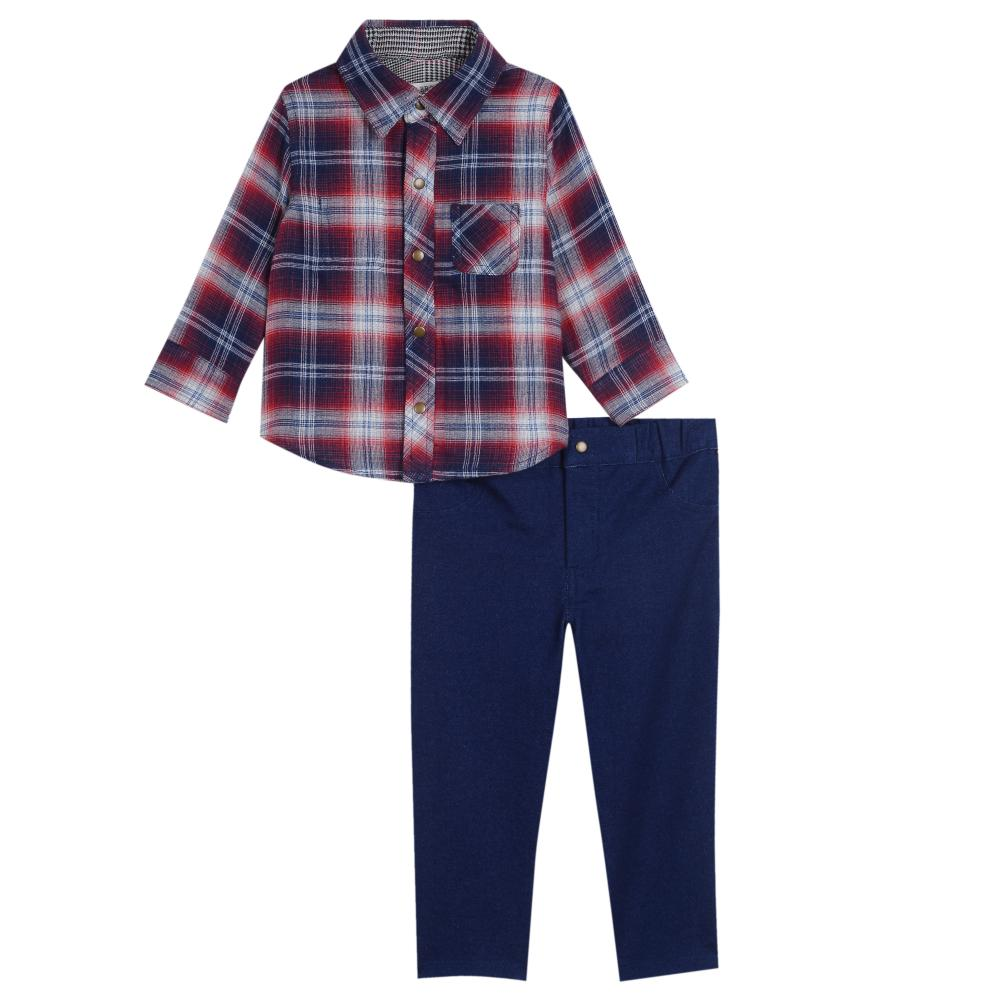 Outfit - Little Brother Henry Plaid Set