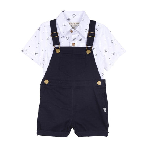 Little Brother Scott Overall Set
