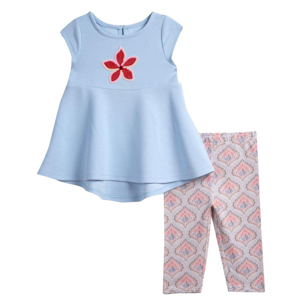 Lynn Blue Star Capri Set