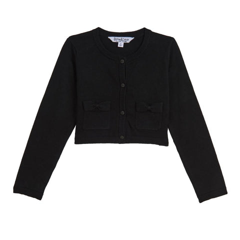 Kimmy Black Bow Pocket Cardigan