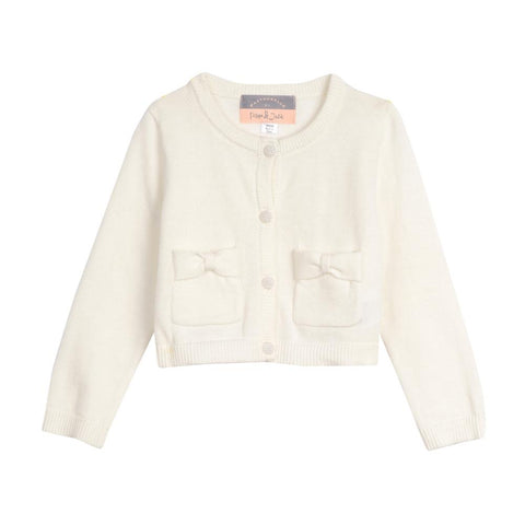 Kimmy Ivory Bow Pocket Cardigan