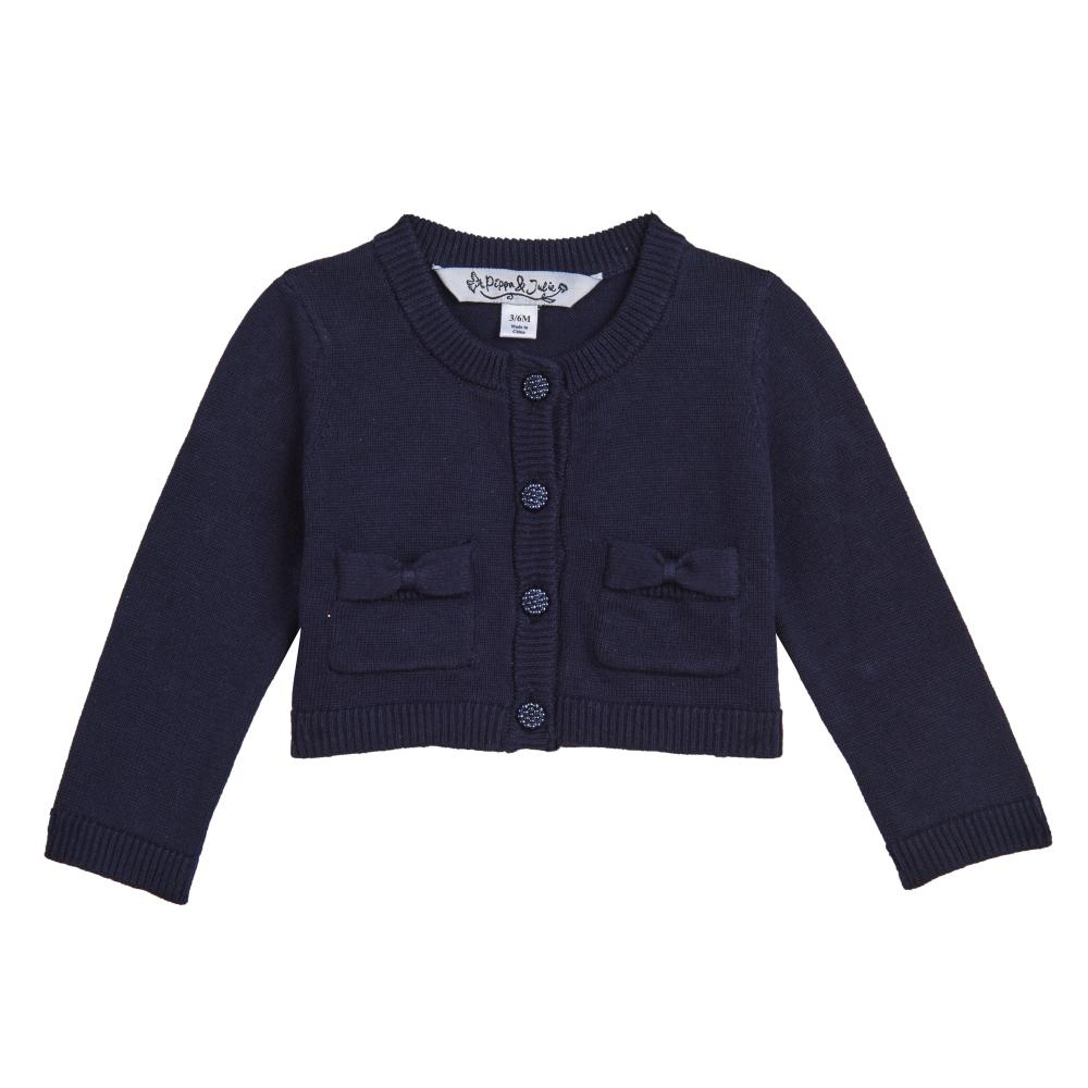 Separate - Kimmy Navy Bow Pocket Cardigan