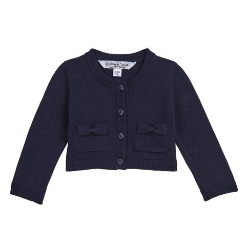 Kimmy Navy Bow Pocket Cardigan