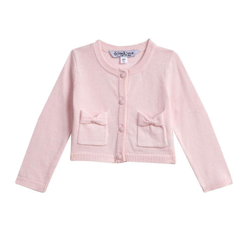 Kimmy Pink Bow Pocket Cardigan