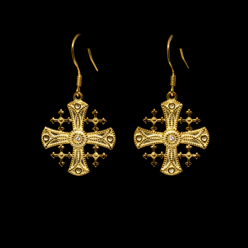 Jerusalem Cross Earrings