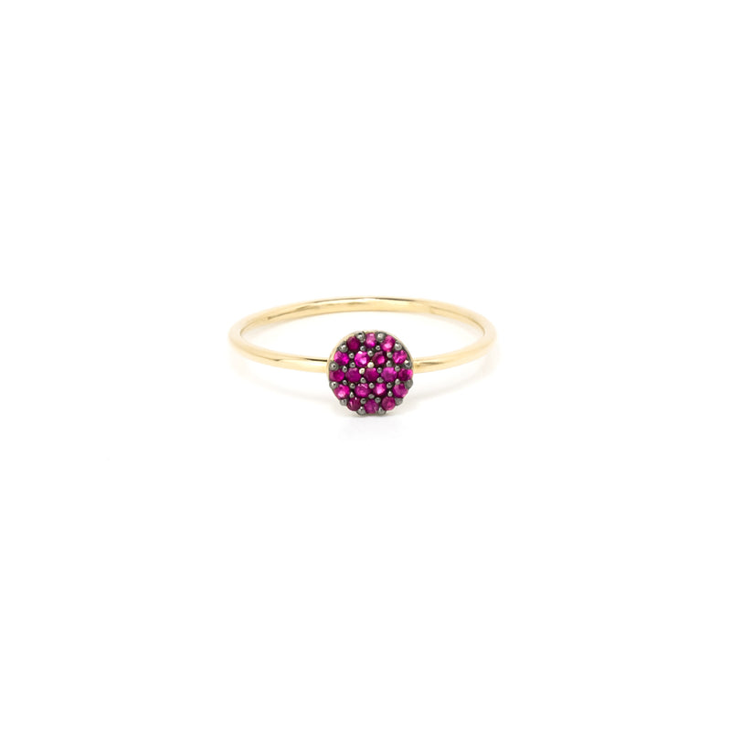 14k Solid Gold Ring/Stack Ring/Ruby Fashion Ring