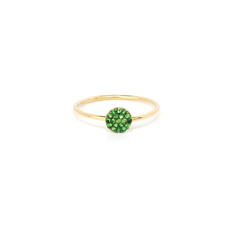 14k Solid Gold Ring/Stack Ring/Tsavorite Fashion Ring