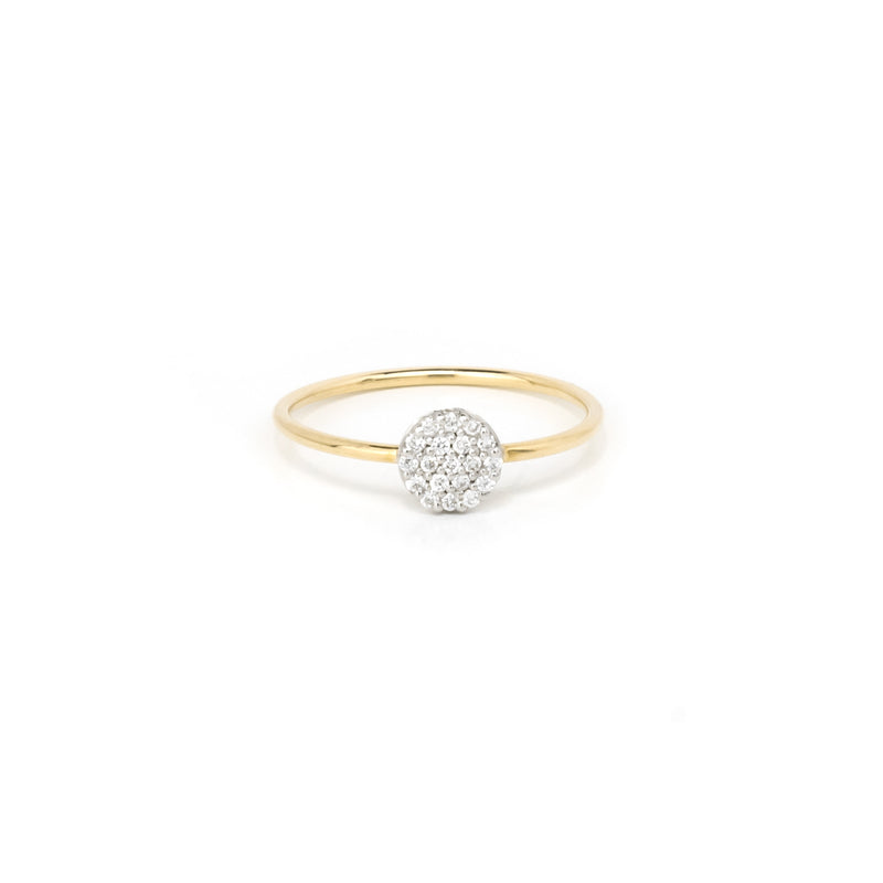 14k Solid Gold Ring/Stack Ring/Diamond Fashion Ring