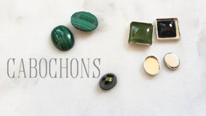 cabochons on white background kbeau jewelry blog