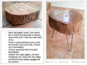 Salvaged Wood Stool