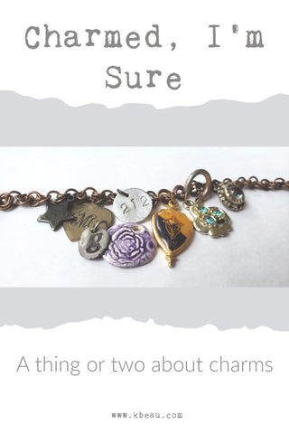 blog post image of various items used as a charm bracelet