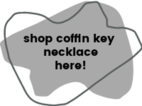 Shop button for coffin key necklace