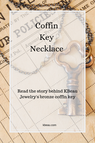 The story behind KBeau jewelry's bronze coffin key necklace