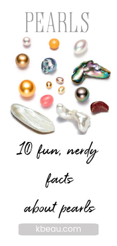 Image of a variety of pearls 10 fun and nerdy facts about pearls blog post kbeau jewelry