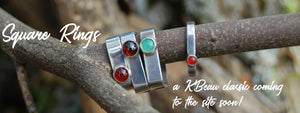 Sterling silver square rings