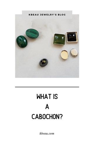Several cabochons on whaite background kbeau jewelry blog post
