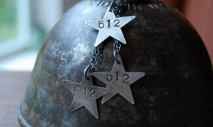 512 star necklace sterling silver
