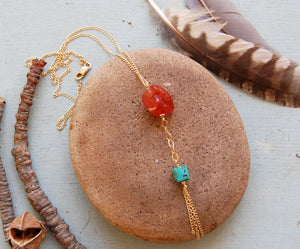 Carnelian and Turquoise Tassel