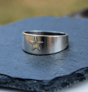 Tapered Lone Star Ring