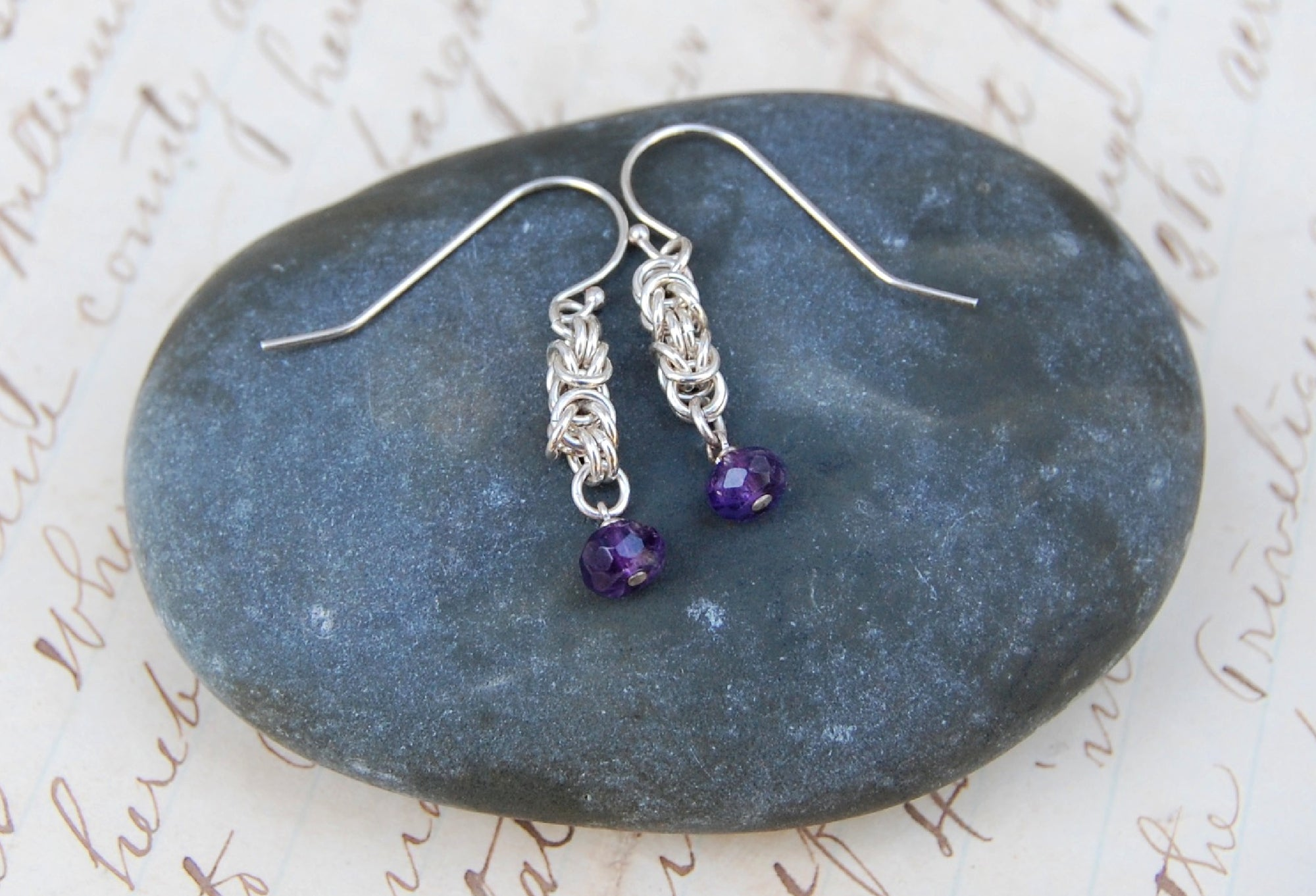 Arzu sterling silver with amethysts