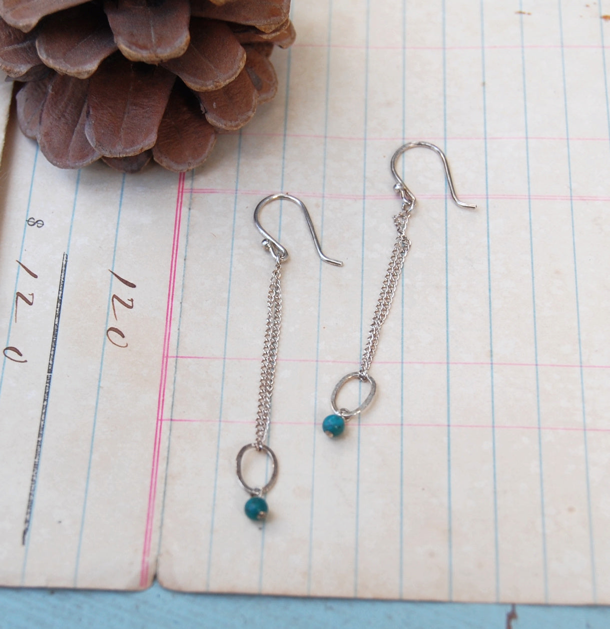 Sterling Ovals with Turquoise