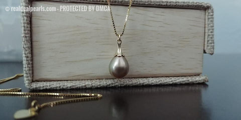 Cultured Cortez Pearl Pendant - 14K Yellow Gold