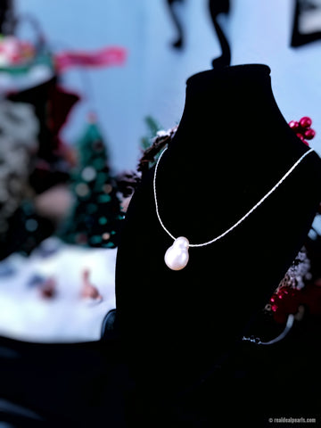 Snowman Pearl Necklace - One of a Kind