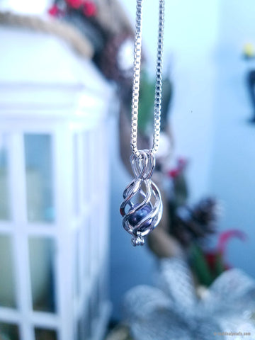 CONFIDENCE Sterling Silver Cage Necklace