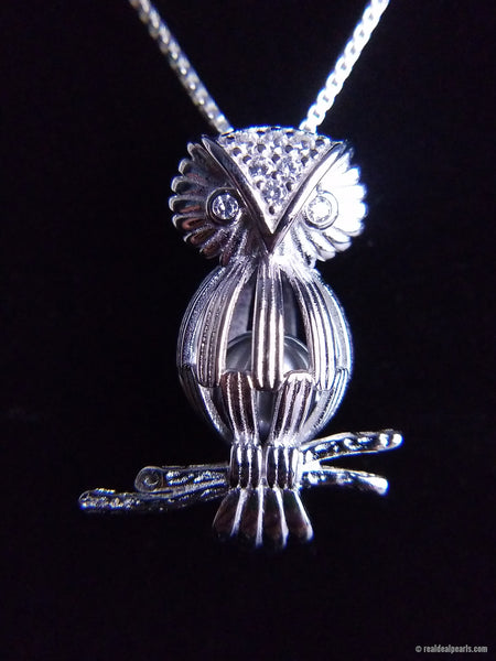 Overwatch Owl Sterling Silver Cage Necklace