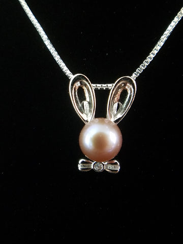 Bunny Necklace Sterling Silver | 1 Oyster Opening