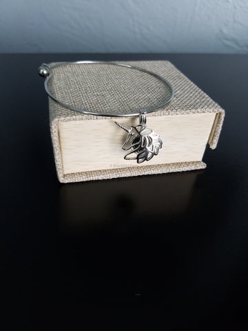 Stainless Steel Charm Bracelet with Sterling Cage