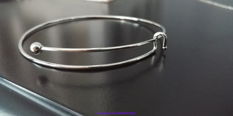 Stainless Steel Hook Bangle Bracelet