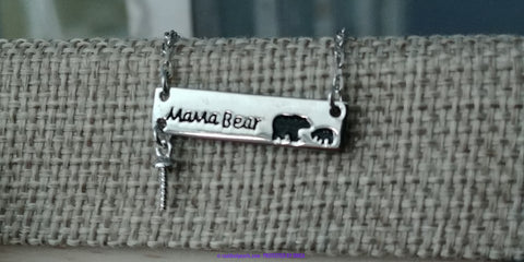 Sterling Mama Bear Necklace | 1 Oyster Opening