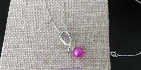 Ribbon Necklace Sterling Silver