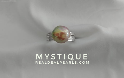 Mystique | Sterling Silver Ring with Cultured Freshwater Ripple Pearl