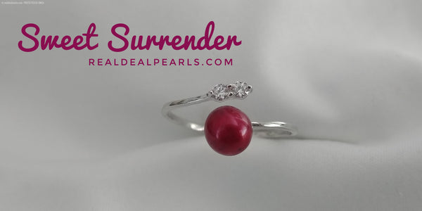 Sweet Surrender | Sterling Silver CZ Ring with Cultured Freshwater Pearl