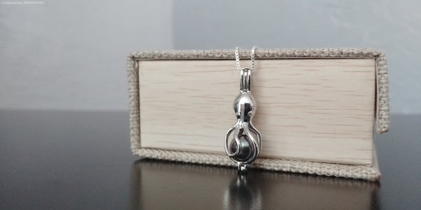 Oswald Octopus Sterling Silver Cage Necklace