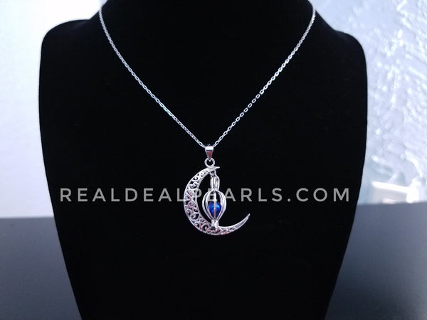 Moonlight Sterling Silver Cage Necklace