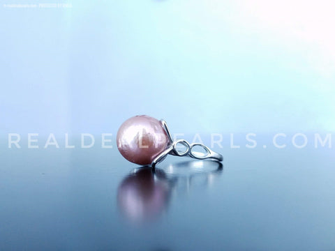 Petals Sterling Silver Ring | 1 Cultured Ripple Pearl