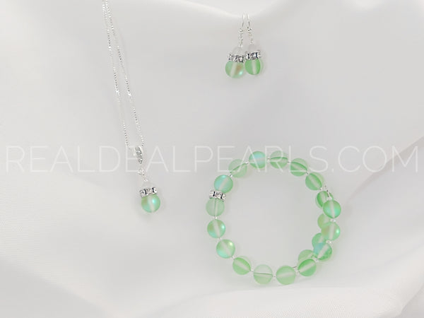 Steel and Sterling Green Firefly Set
