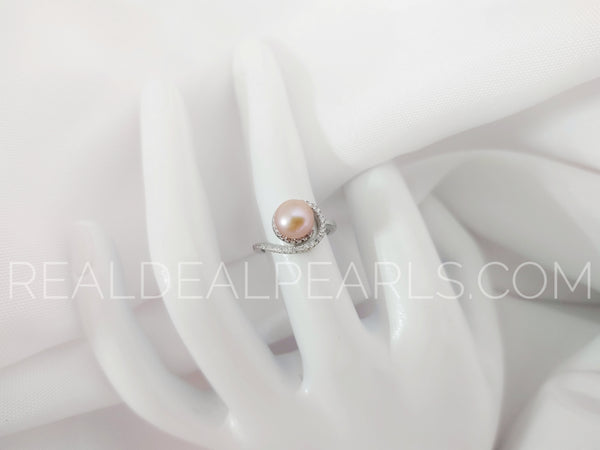 Sterling Silver Jupiter Ring with Cultured Freshwater Pearl