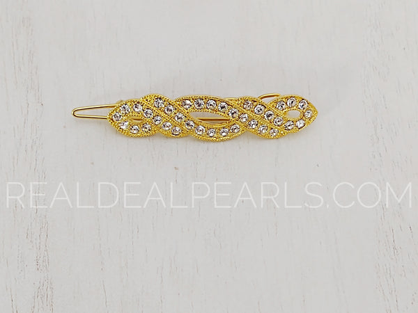Gold Plated Hair Clip